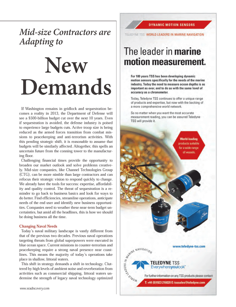 Marine Technology Magazine, page 15,  Oct 2012 large contractors