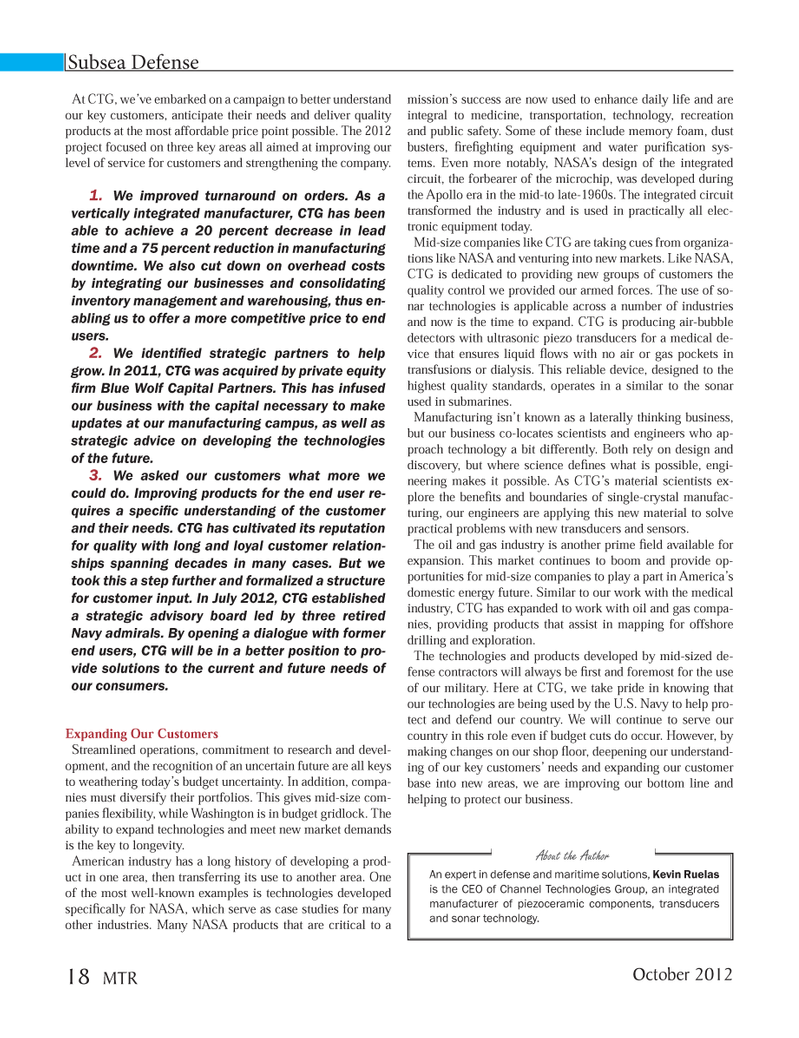 Marine Technology Magazine, page 18,  Oct 2012 sonar technology