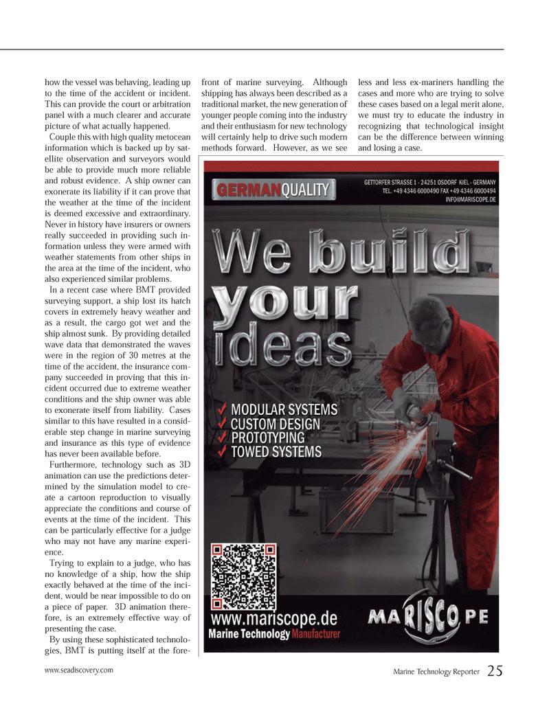 Marine Technology Magazine, page 25,  Oct 2012 UN Court