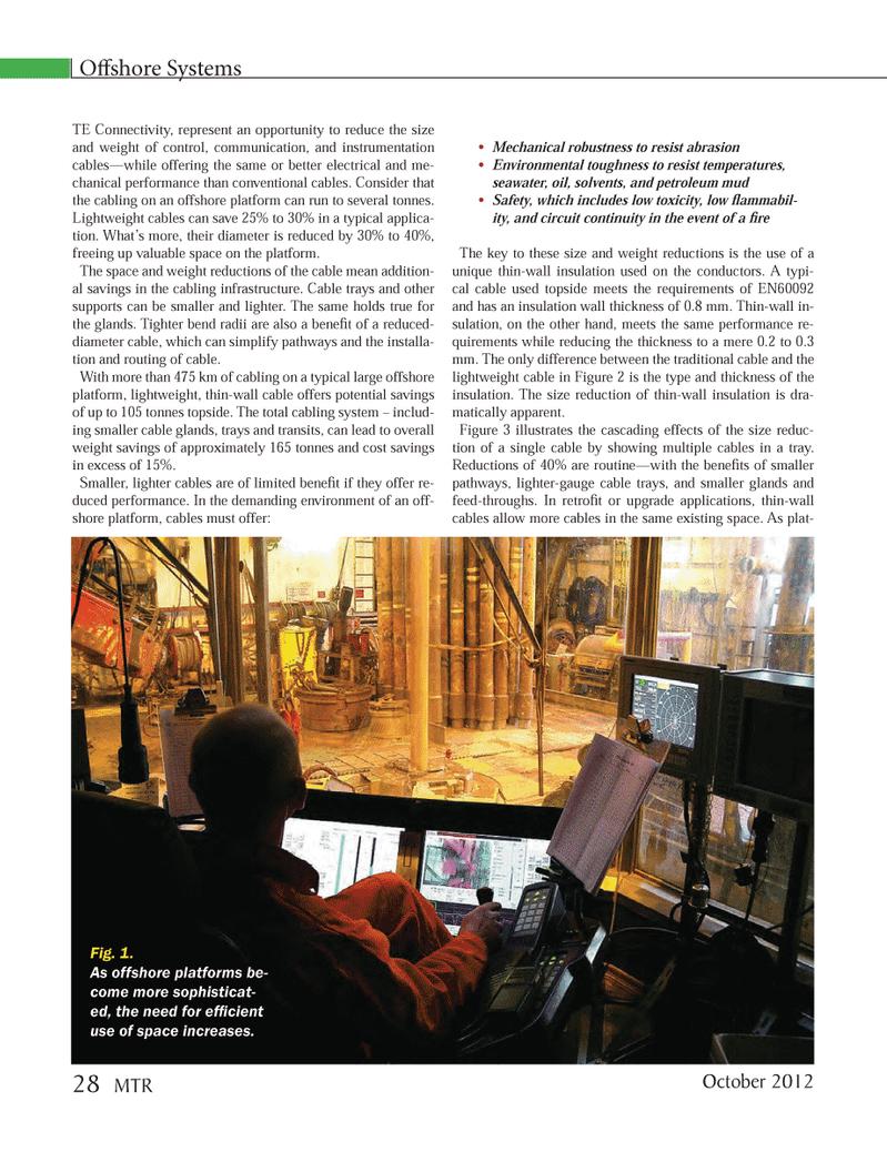 Marine Technology Magazine, page 28,  Oct 2012 TE Connectivity