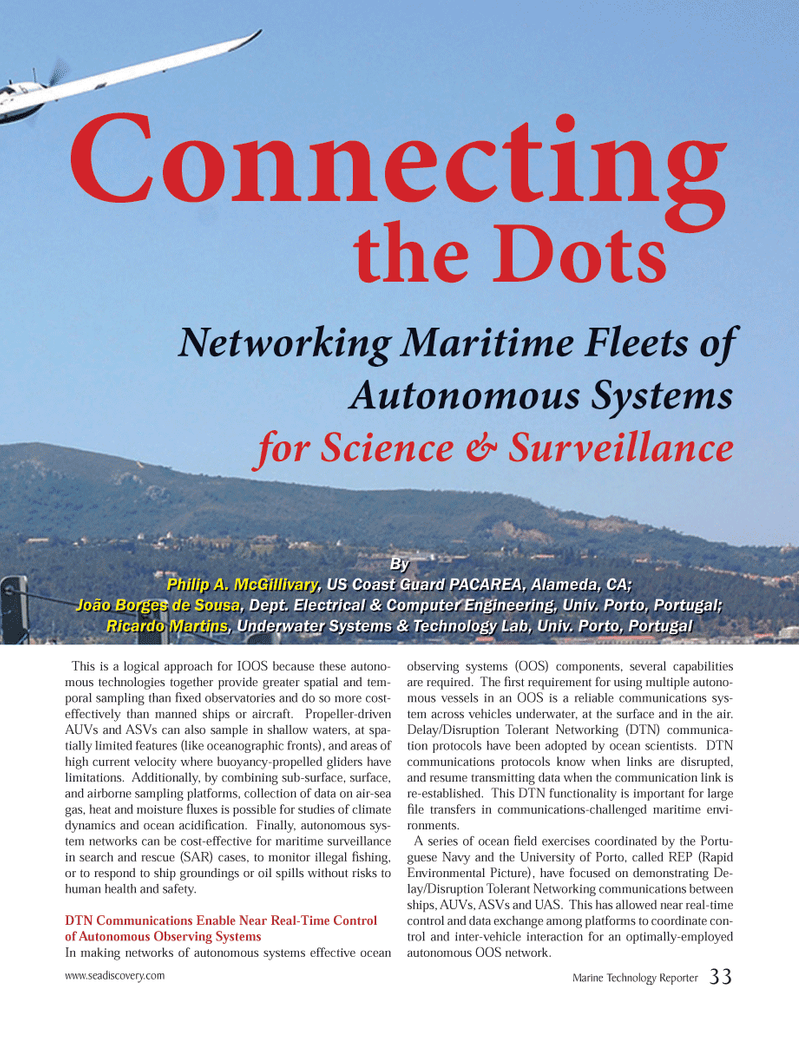 Marine Technology Magazine, page 33,  Oct 2012 DTN communications protocols