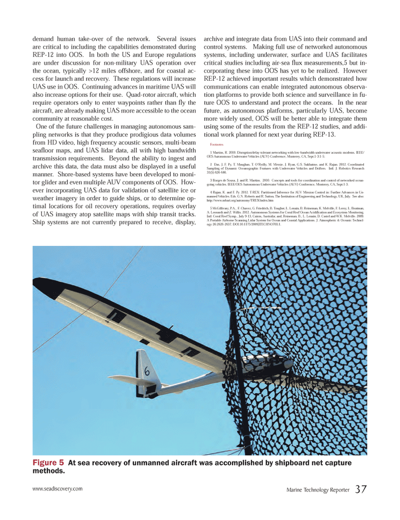 Marine Technology Magazine, page 37,  Oct 2012 Institution of Engineering and Technology