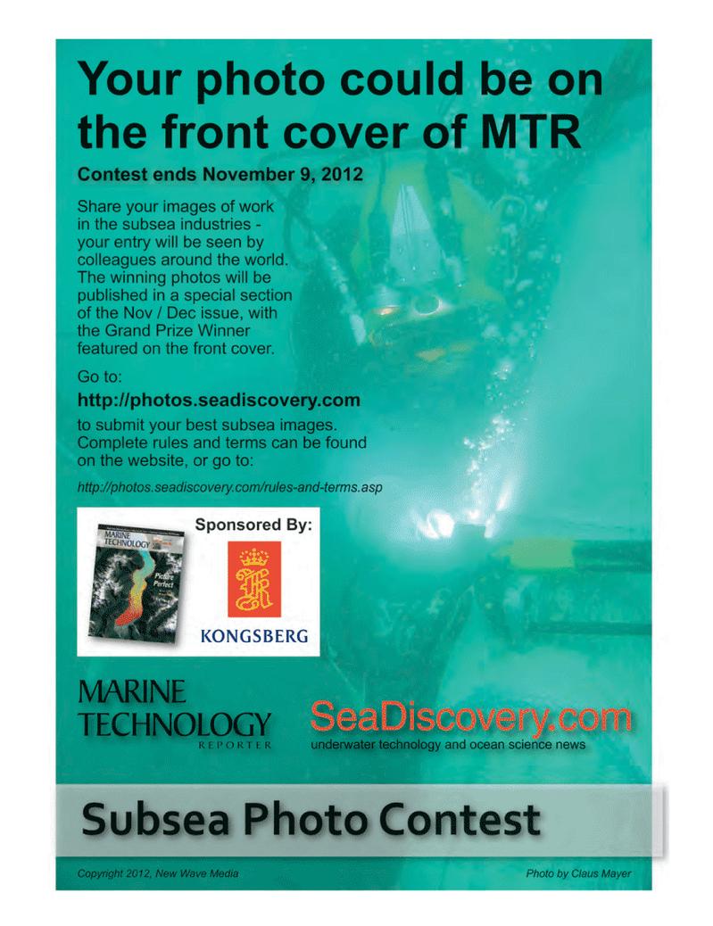 Marine Technology Magazine, page 39,  Oct 2012