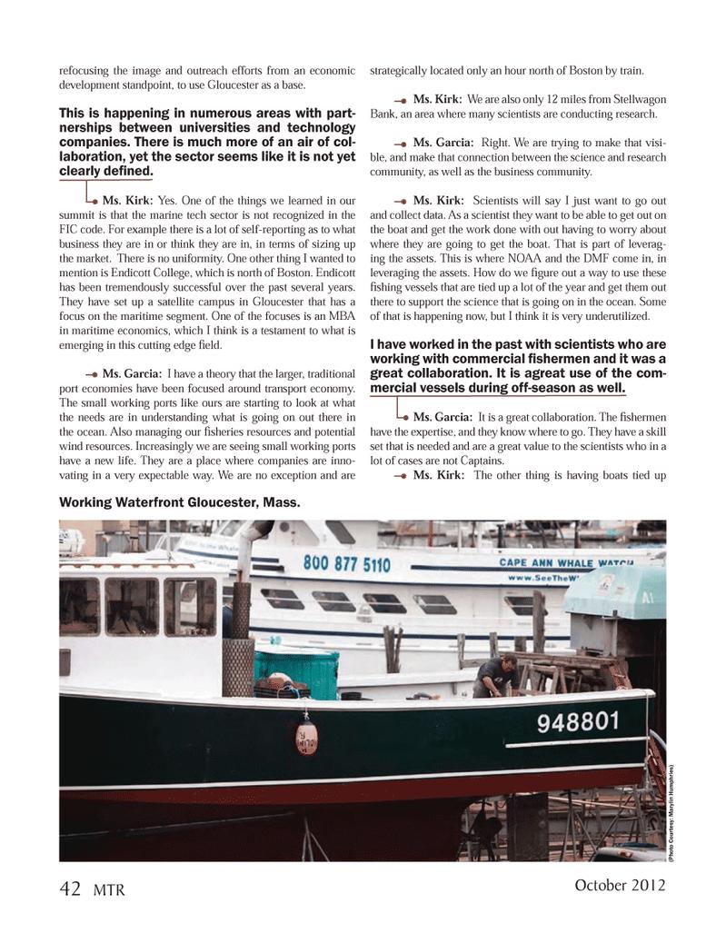 Marine Technology Magazine, page 42,  Oct 2012 Endicott College