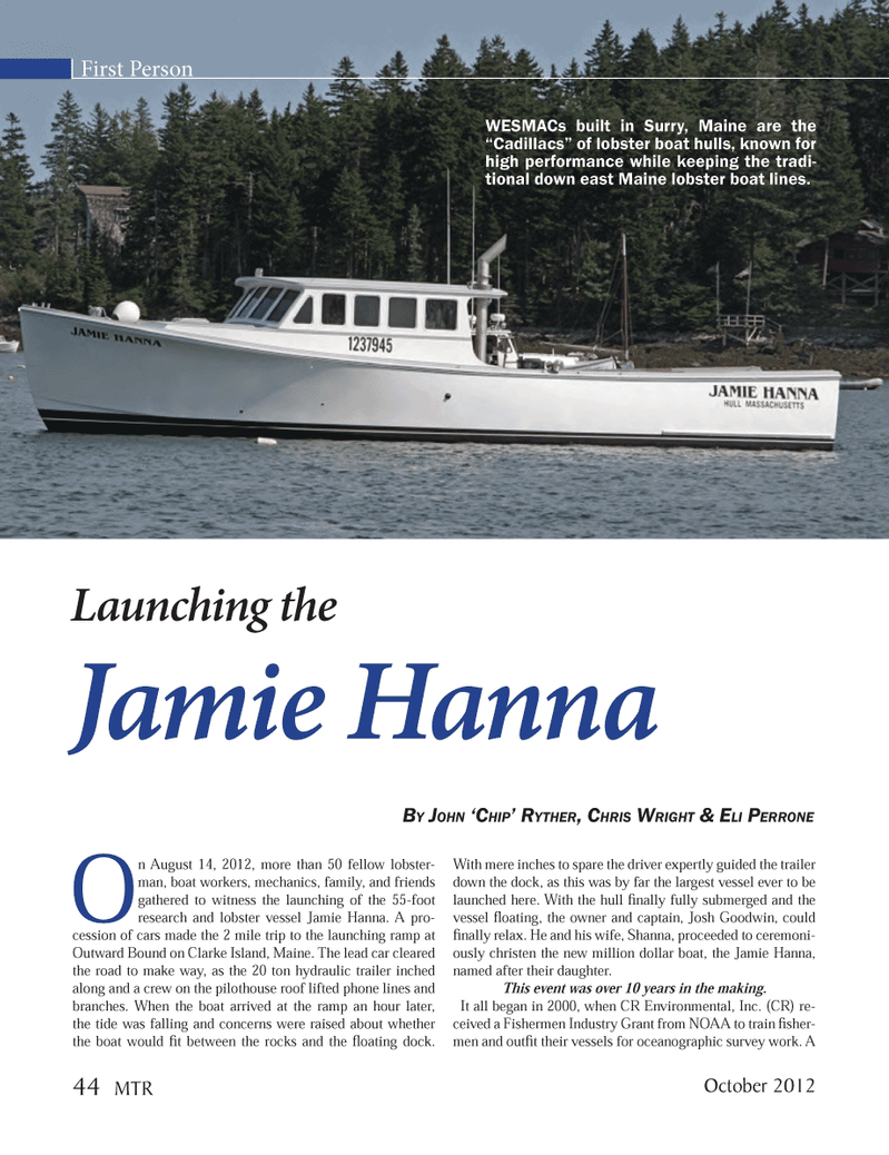 Marine Technology Magazine, page 44,  Oct 2012 Shanna