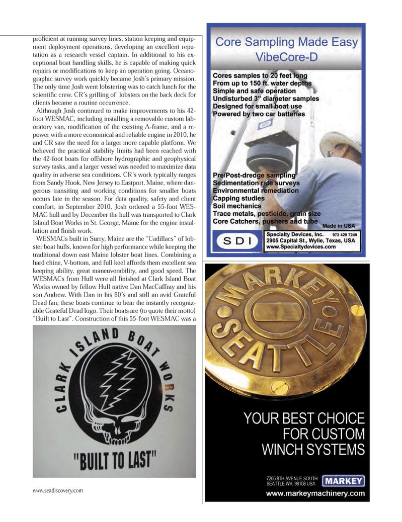 Marine Technology Magazine, page 47,  Oct 2012 Sandy Hook