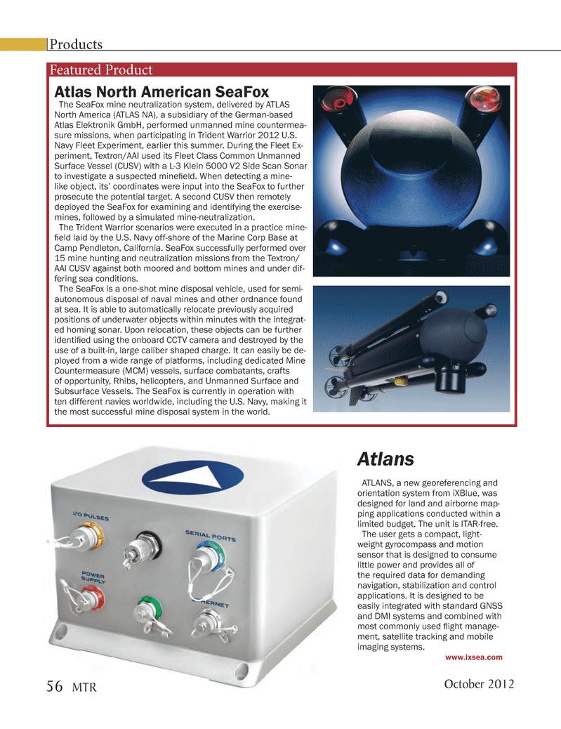 Marine Technology Magazine, page 56,  Oct 2012