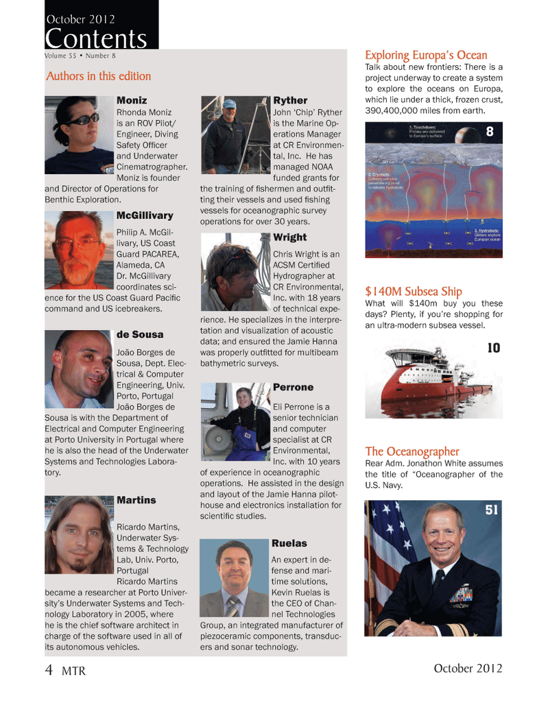 Marine Technology Magazine, page 4,  Oct 2012 Diving Safety