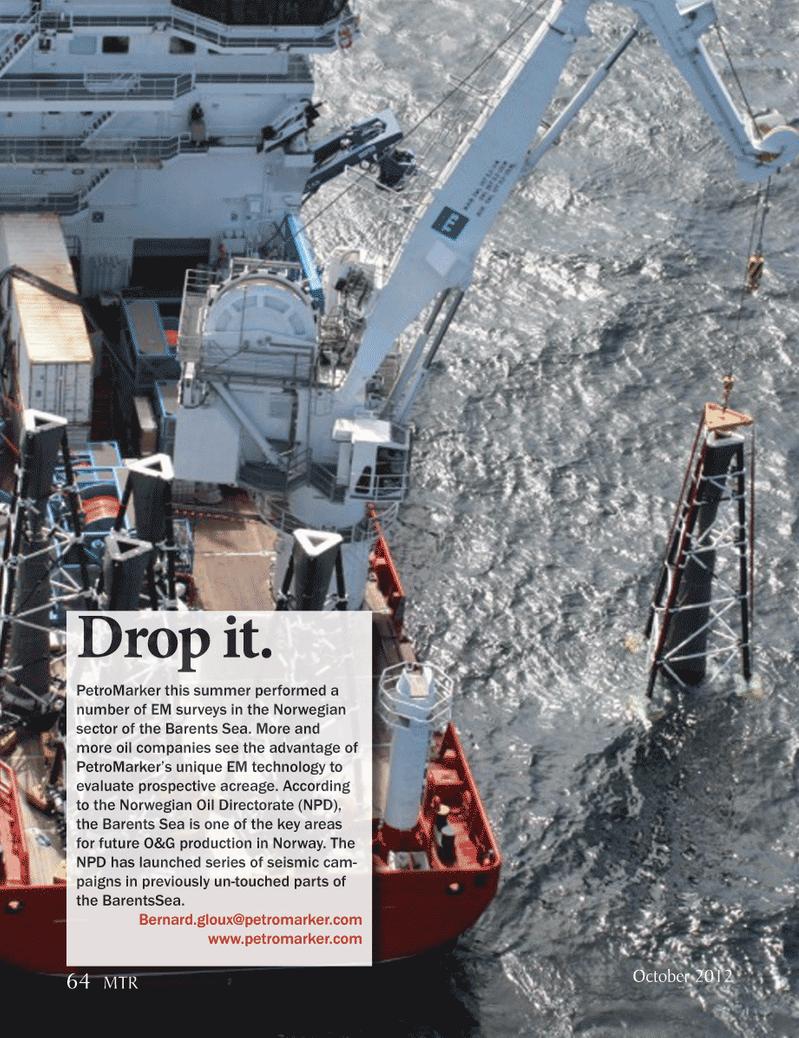 Marine Technology Magazine, page 64,  Oct 2012