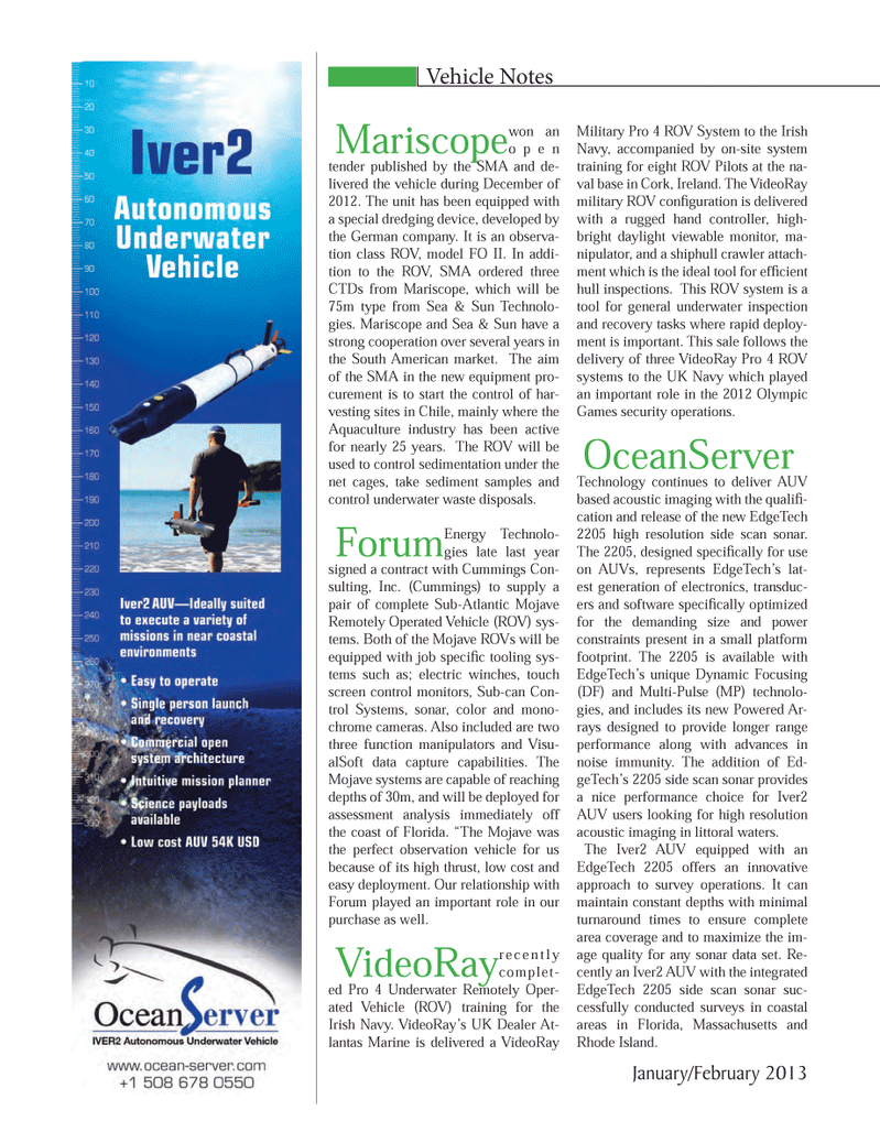 Marine Technology Magazine, page 30,  Jan 2013