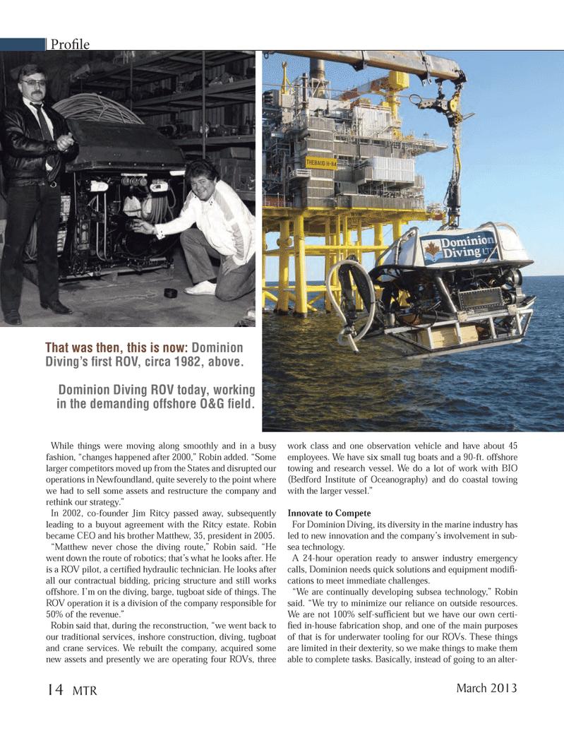 Marine Technology Magazine, page 14,  Mar 2013 sea technology