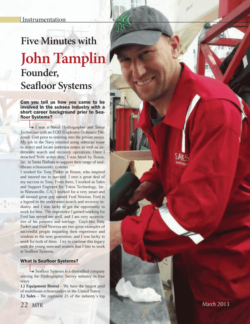 Marine Technology Magazine, page 22,  Mar 2013 underwater search