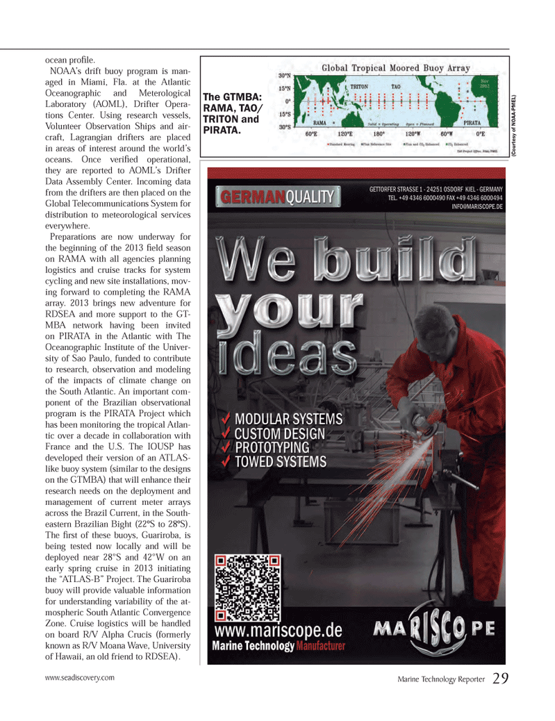 Marine Technology Magazine, page 29,  Mar 2013 Hawaii
