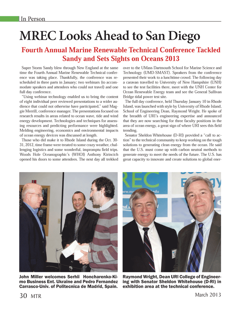 Marine Technology Magazine, page 30,  Mar 2013 New Hampshire