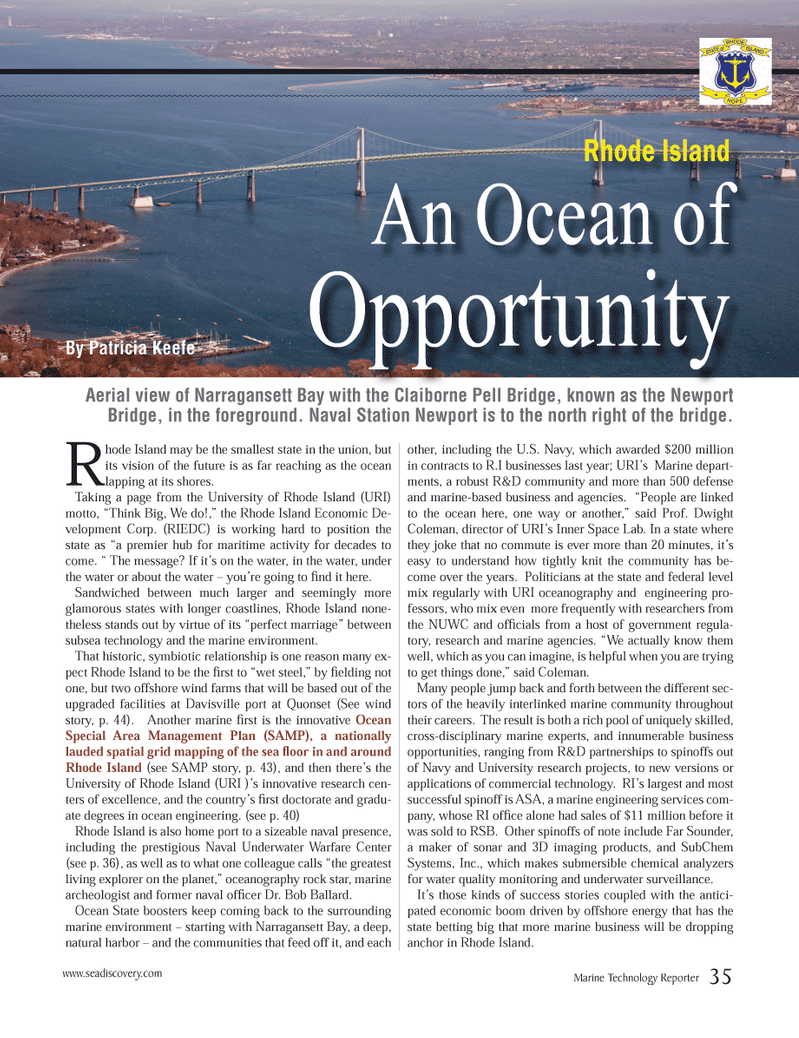 Marine Technology Magazine, page 35,  Mar 2013 United States Navy