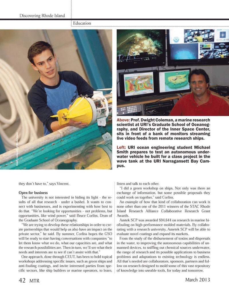 Marine Technology Magazine, page 42,  Mar 2013 Vincent