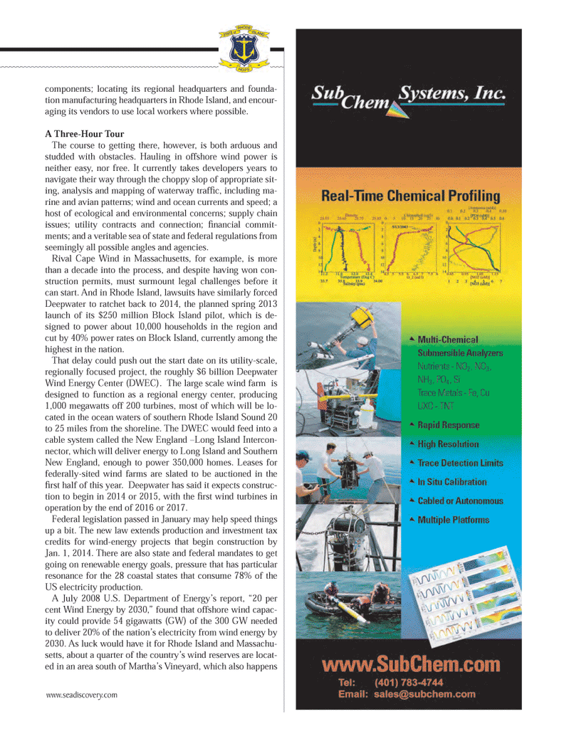 Marine Technology Magazine, page 45,  Mar 2013 Massachusetts