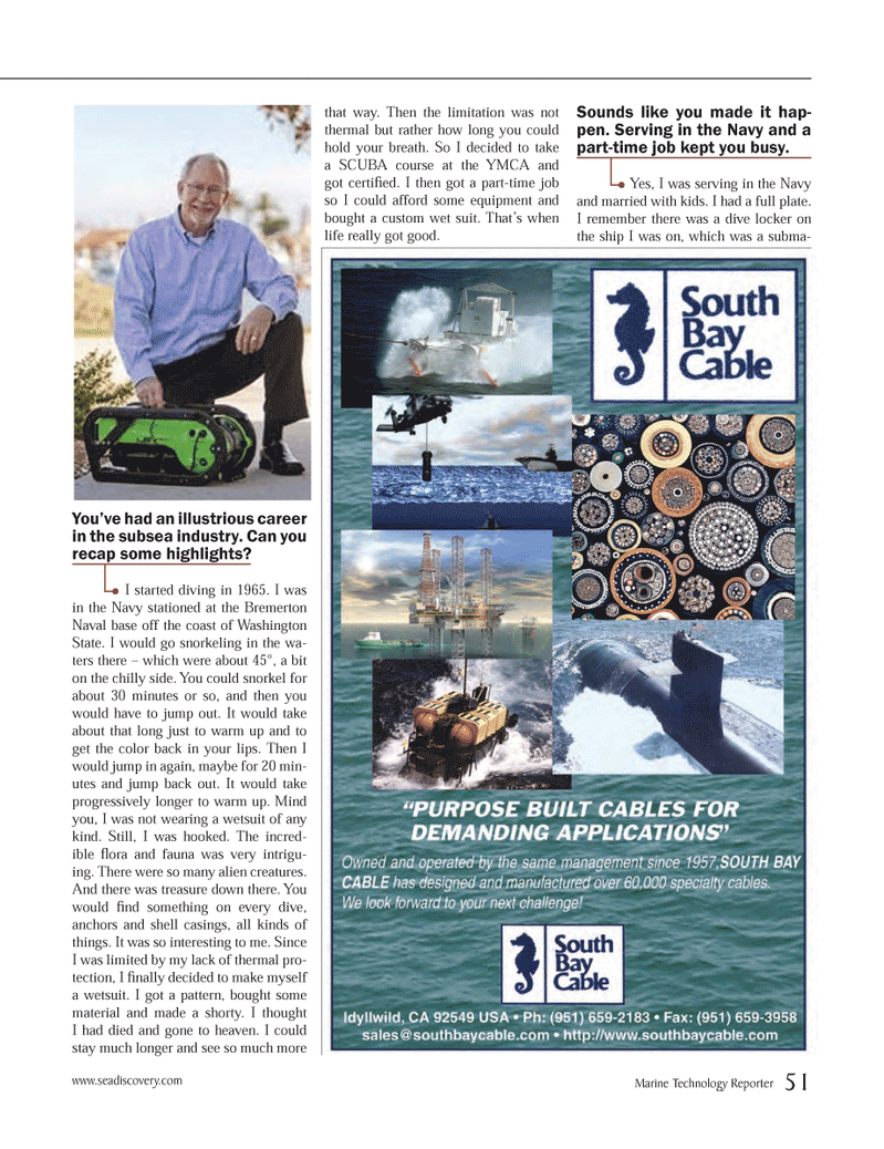 Marine Technology Magazine, page 51,  Mar 2013 Navy