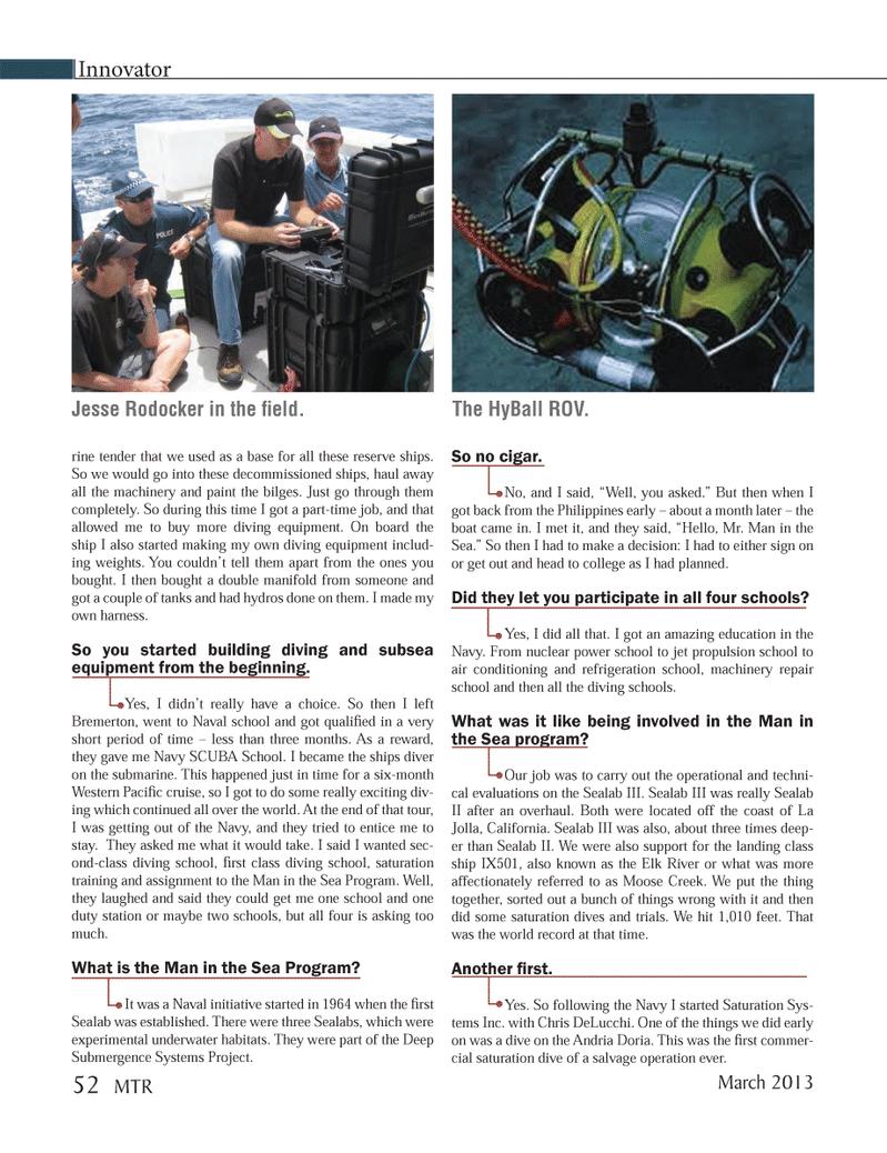 Marine Technology Magazine, page 52,  Mar 2013