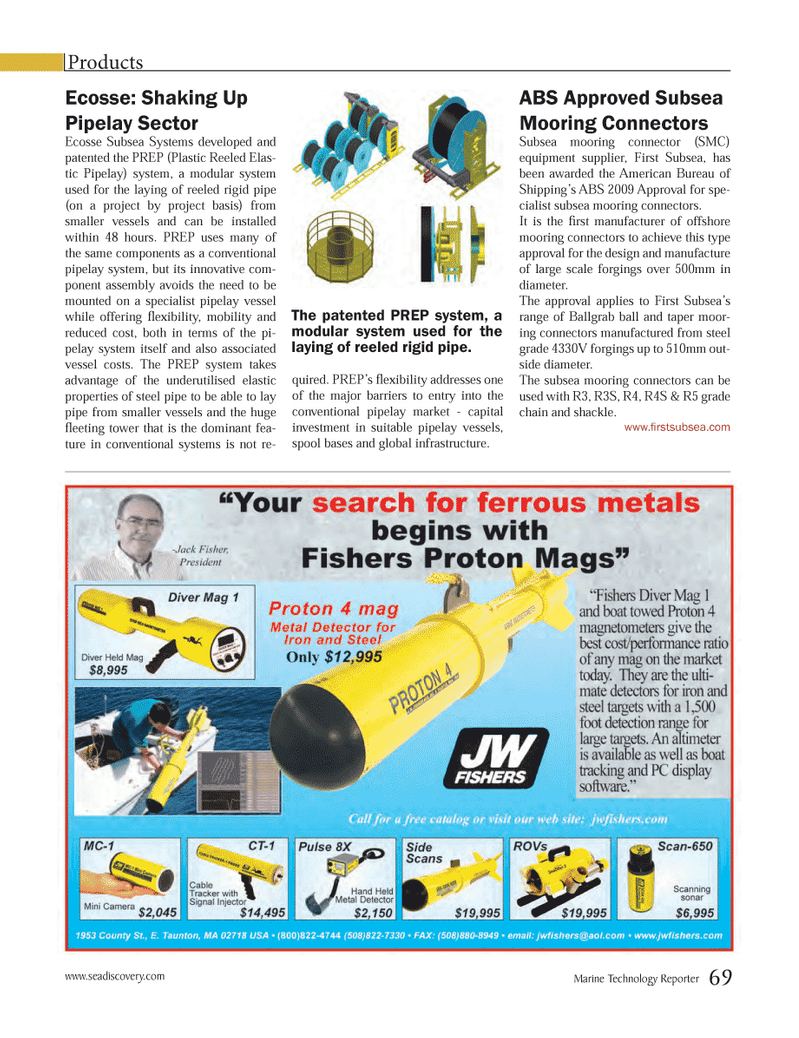 Marine Technology Magazine, page 69,  Mar 2013 Equipment supplier