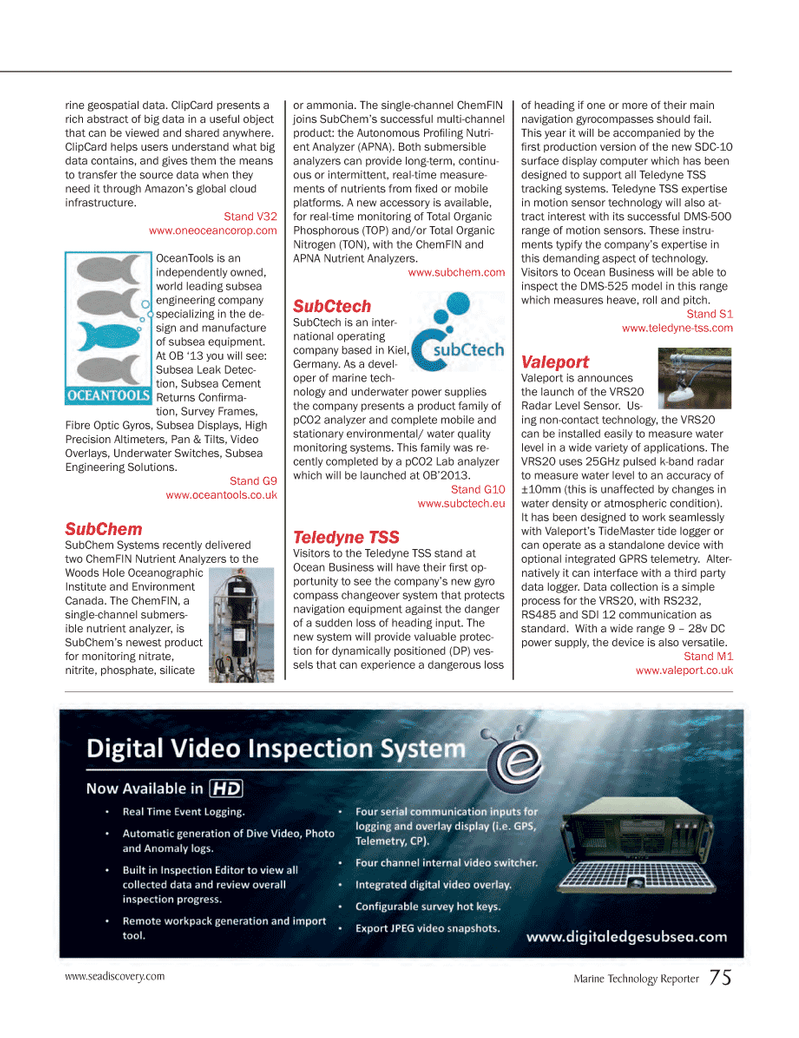 Marine Technology Magazine, page 75,  Mar 2013 motion sensor technology