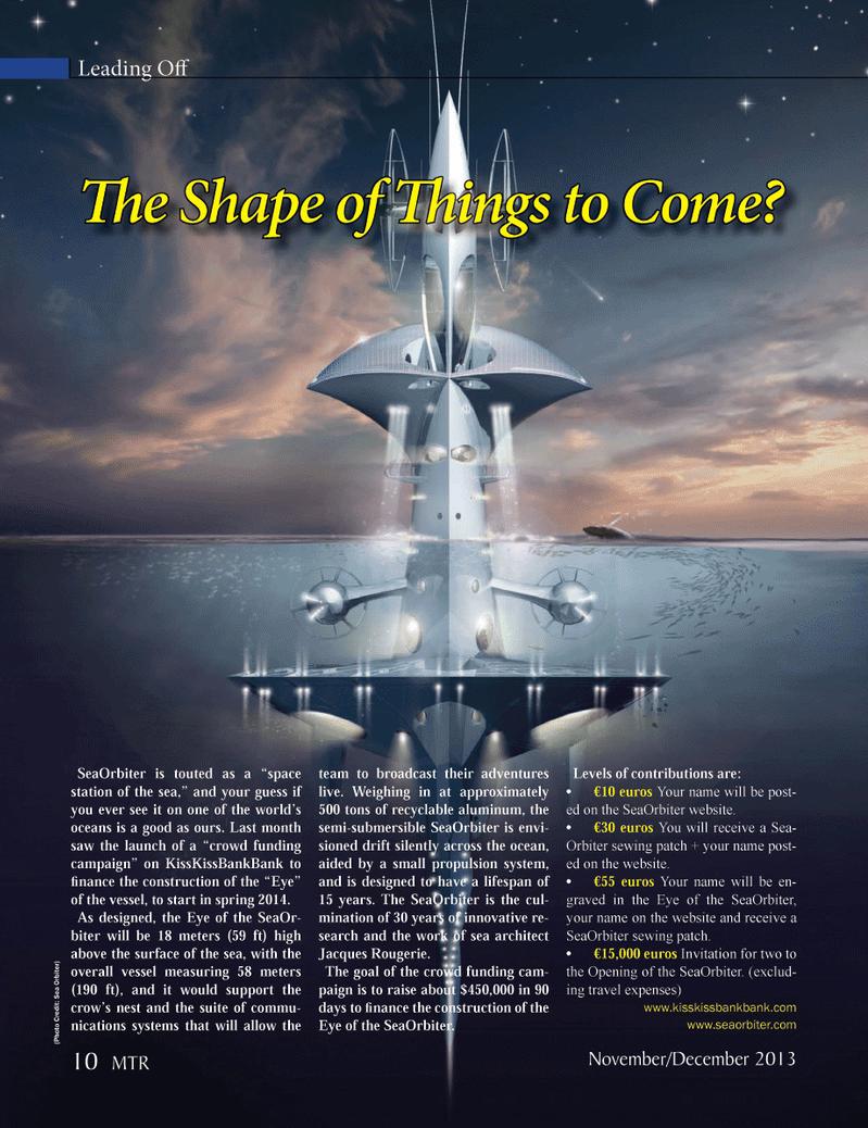 Marine Technology Magazine, page 10,  Nov 2013 KissKissBankBank
