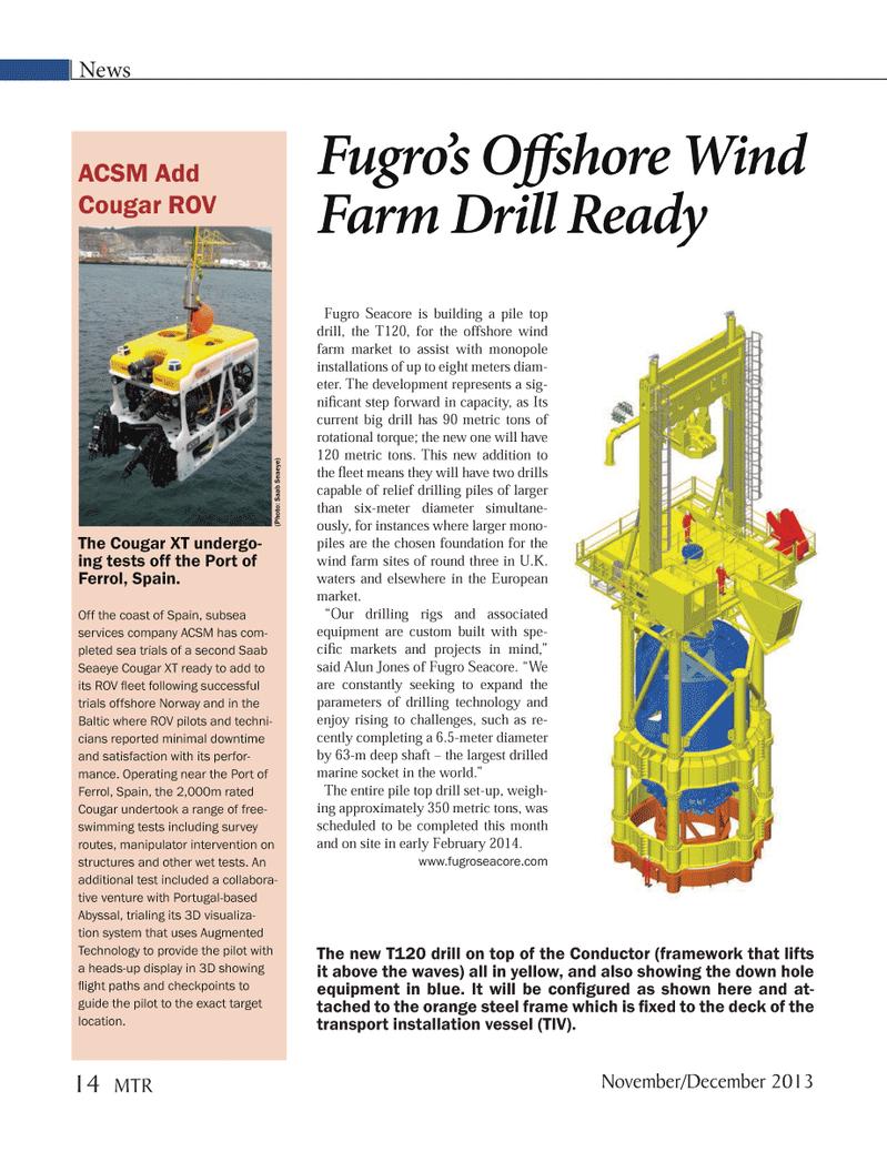 Marine Technology Magazine, page 14,  Nov 2013 down hole equipment