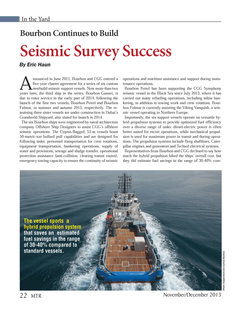 Marine Technology Magazine, page 22,  Nov 2013 CGG Symphony