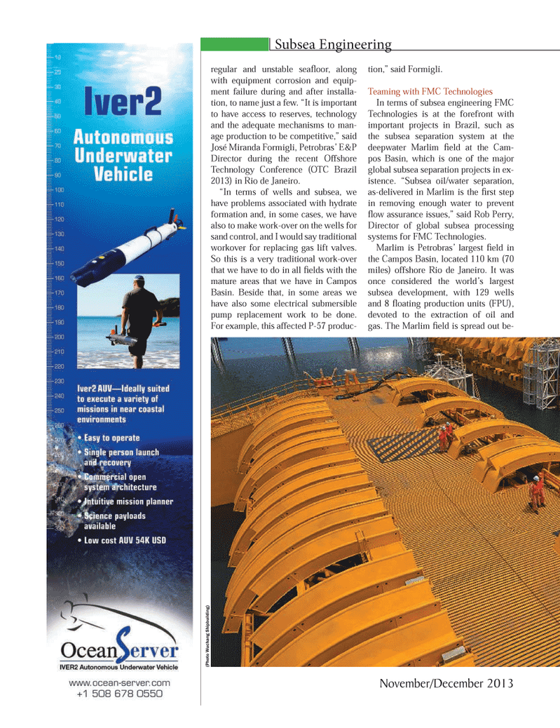 Marine Technology Magazine, page 36,  Nov 2013 oil/water separation