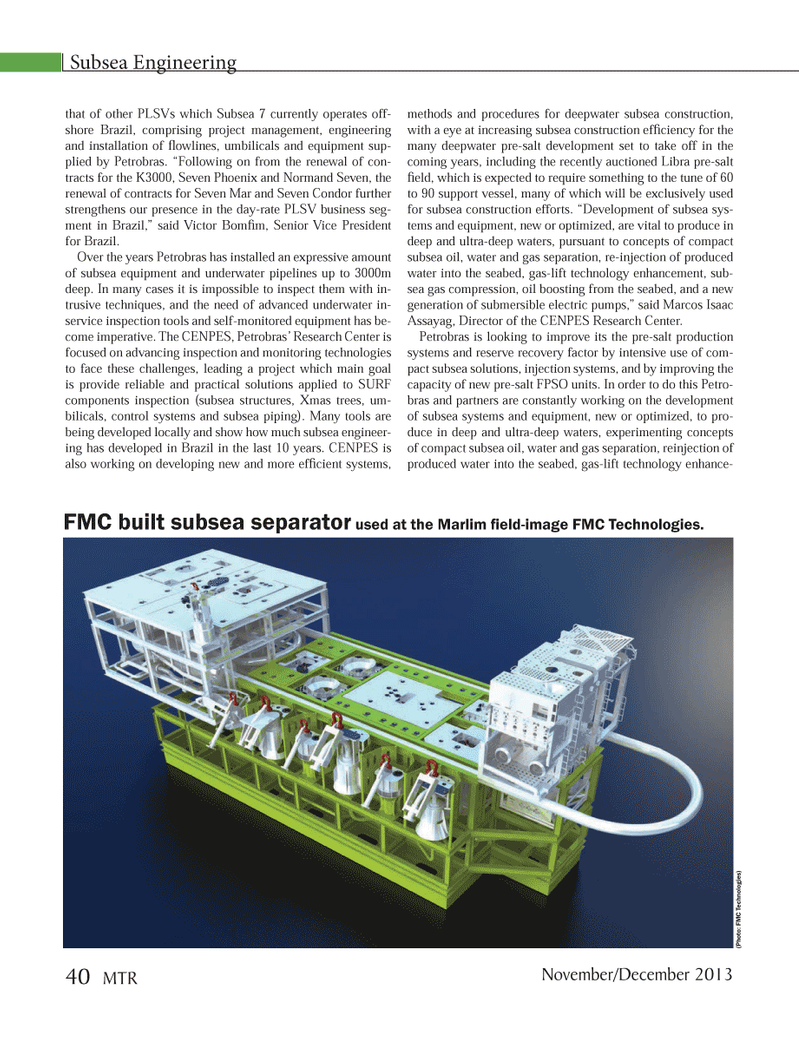 Marine Technology Magazine, page 40,  Nov 2013 Normand Seven