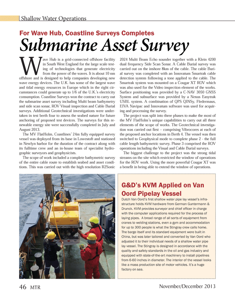 Marine Technology Magazine, page 46,  Nov 2013 proposed test devices
