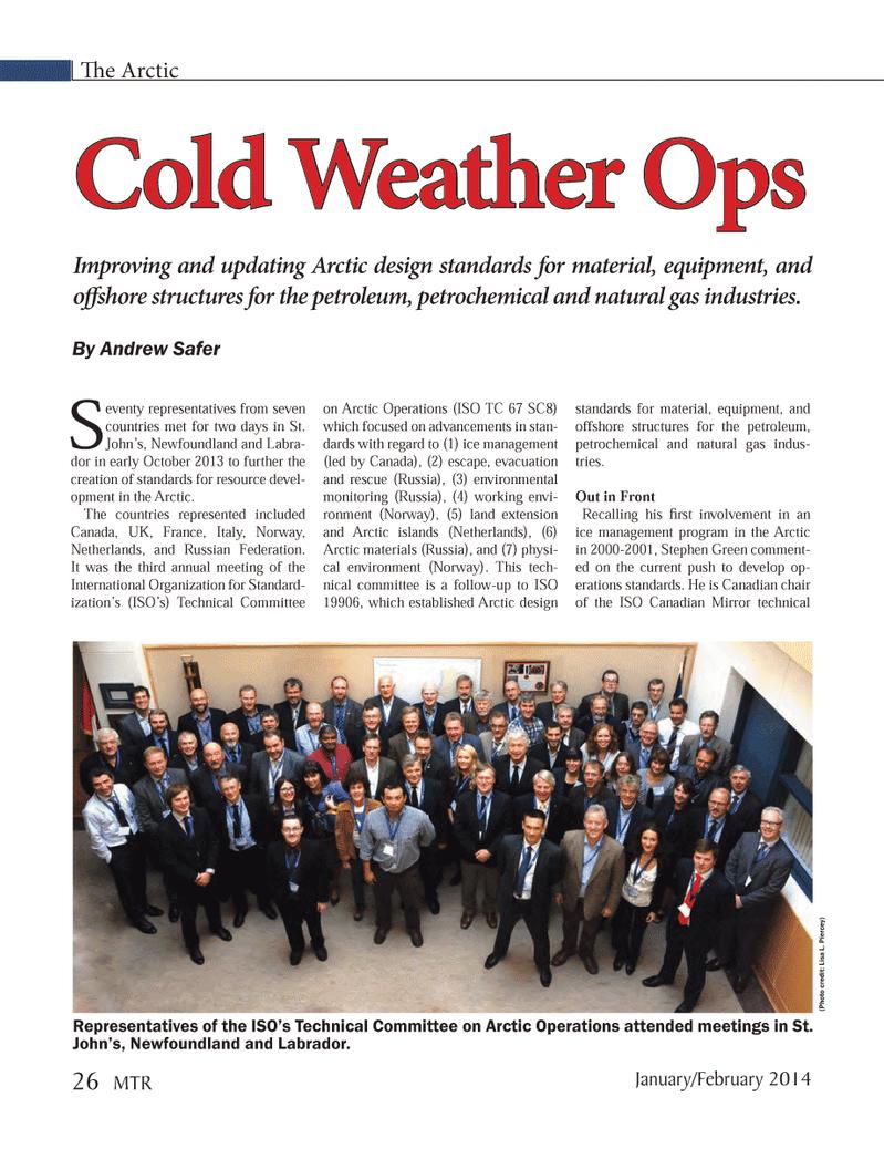Marine Technology Magazine, page 26,  Jan 2014 Lisa L. Piercey