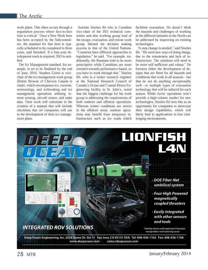 Marine Technology Magazine, page 28,  Jan 2014