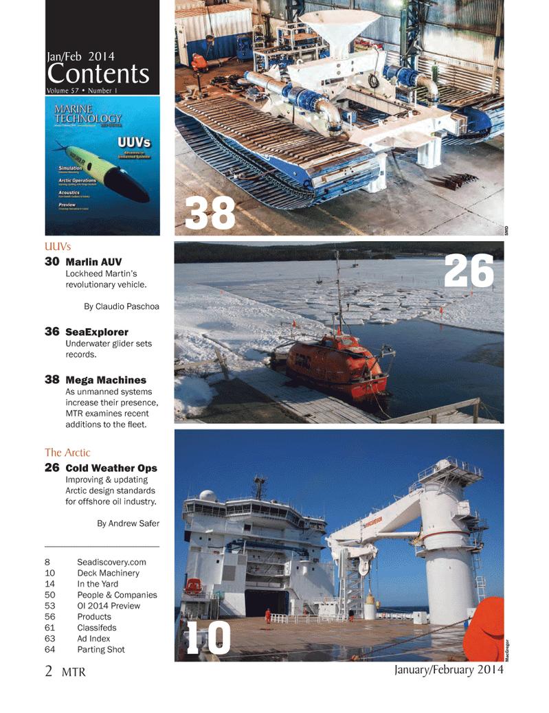 Marine Technology Magazine, page 2,  Jan 2014 Lockheed Martin