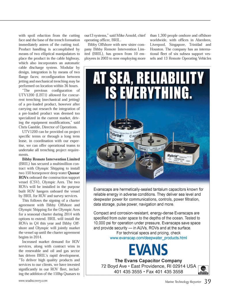 Marine Technology Magazine, page 39,  Jan 2014