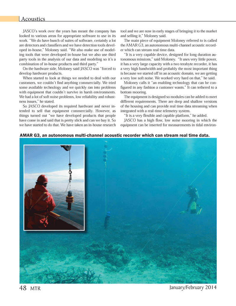 Marine Technology Magazine, page 48,  Jan 2014 Hardware products