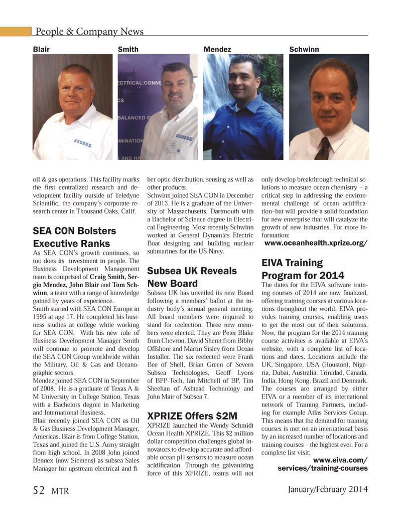 Marine Technology Magazine, page 52,  Jan 2014 Martin Sisley
