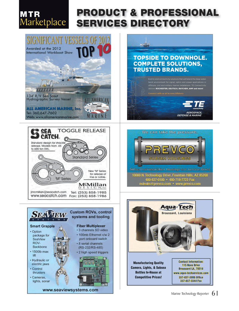 Marine Technology Magazine, page 61,  Jan 2014