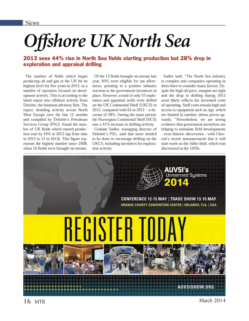 Marine Technology Magazine, page 16,  Mar 2014 oil and gas