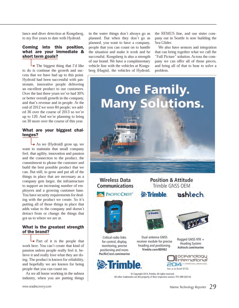 Marine Technology Magazine, page 29,  Mar 2014 possible product