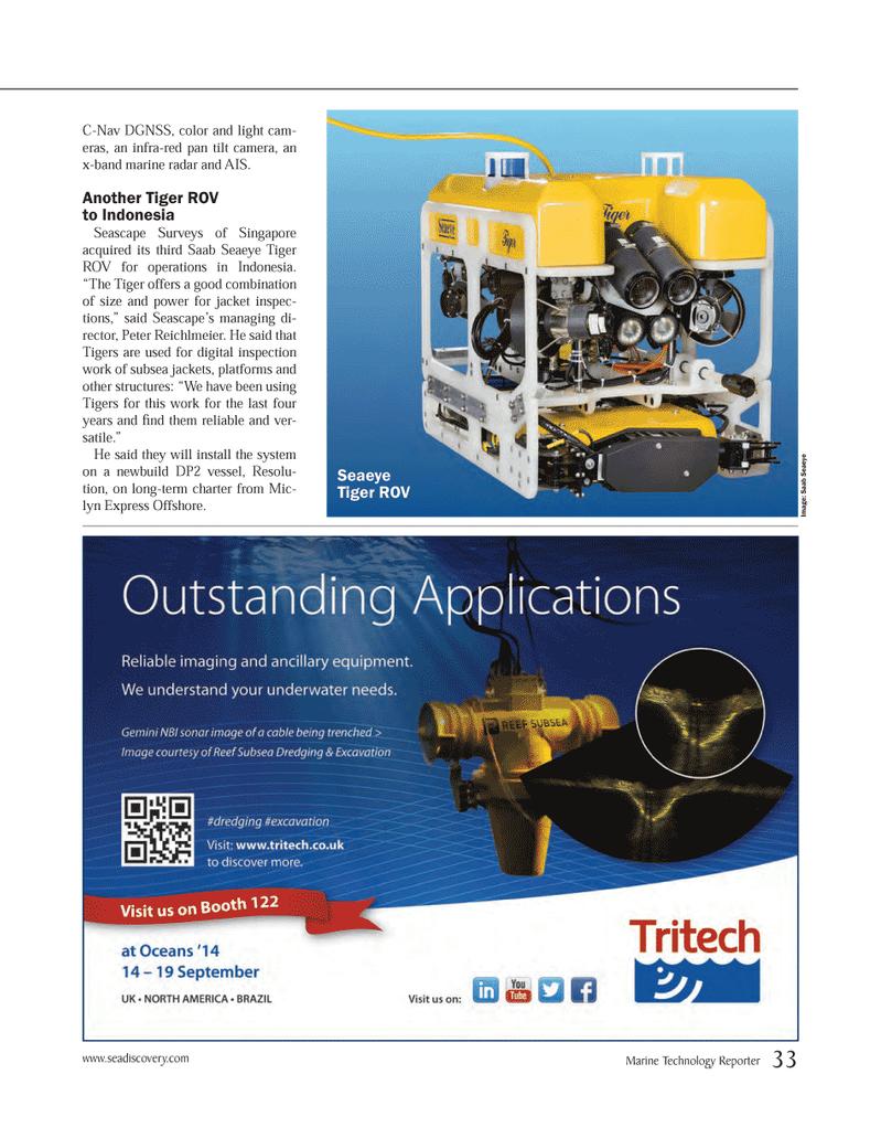 Marine Technology Magazine, page 33,  Mar 2014 Indonesia