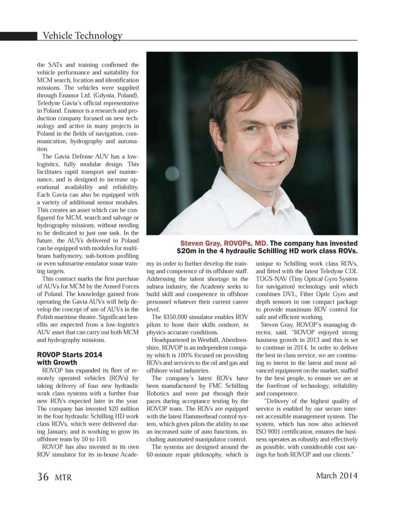 Marine Technology Magazine, page 36,  Mar 2014 Maryland