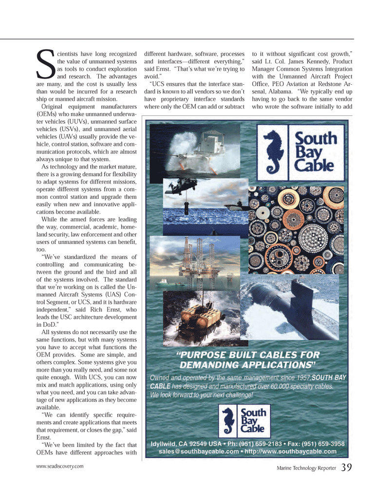 Marine Technology Magazine, page 39,  Mar 2014 James Kennedy