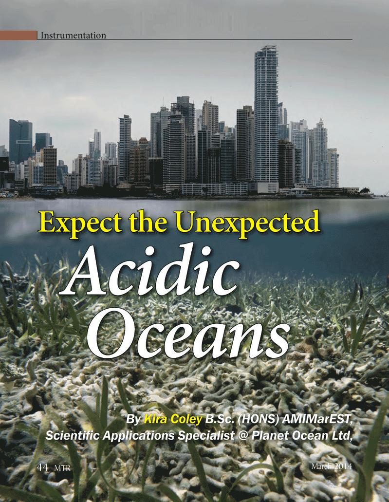 Marine Technology Magazine, page 44,  Mar 2014 Planet Ocean Ltd