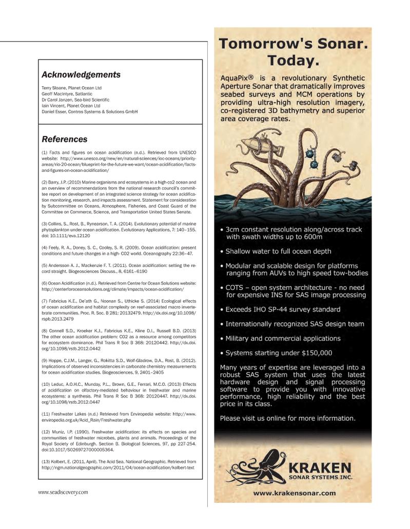 Marine Technology Magazine, page 51,  Mar 2014 National Geographic