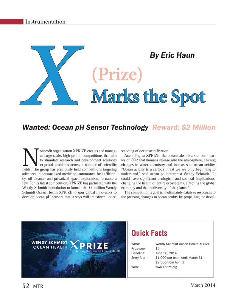 Marine Technology Magazine, page 52,  Mar 2014 oil cleanup