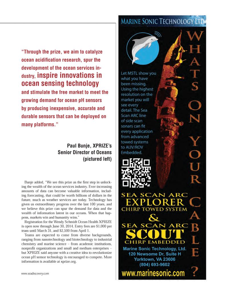 Marine Technology Magazine, page 55,  Mar 2014 biotechnology