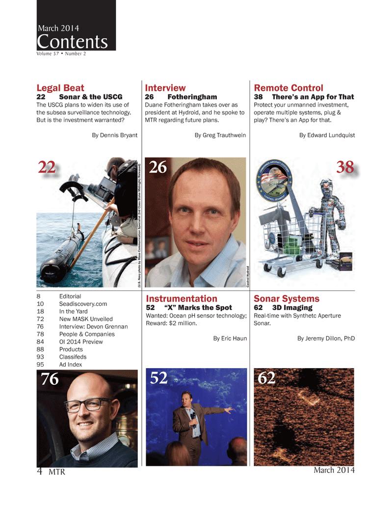 Marine Technology Magazine, page 4,  Mar 2014 Eric HaunMTR
