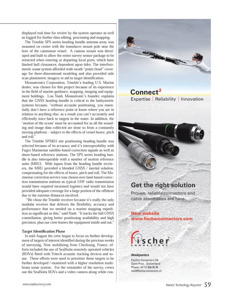 Marine Technology Magazine, page 59,  Mar 2014 satellite-based correction signals