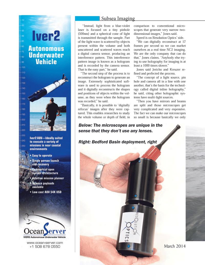Marine Technology Magazine, page 68,  Mar 2014 imaging